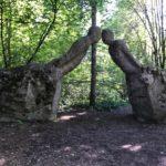 公園の彫刻?だそうですがなんかものすごい話したいことがあったんだと思います。